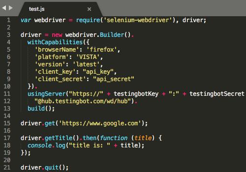 nodeJS automated testing