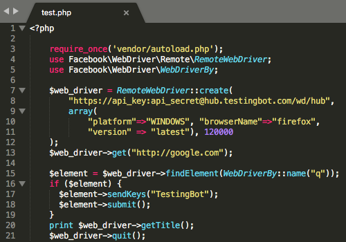 php automated testing