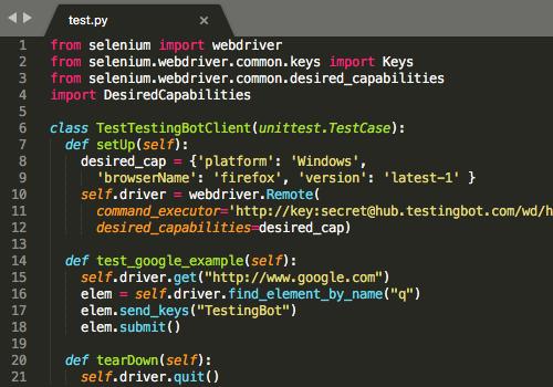 python automated testing